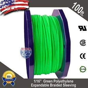 """50 FT 1//16/"""" Black Expandable Wire Cable Sleeving Sheathing Braided Loom Tubing"""