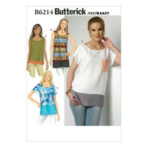 Butterick Sewing Pattern 6214 misses/'s holgada Top /& Túnica ZZ Lrg-XXL