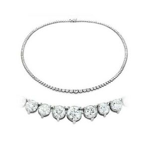7-00-ct-F-SI-ROUND-CUT-DIAMOND-TENNIS-NECKLACE-16-inch