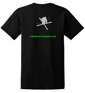 JUST-RIDE-FREESKIING-REQUIRES-BALLS-T-SHIRT-SNOW-SKI-SKIER-K2-HEAD-Salomon