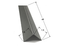 15x15x48 Stainless Steel Corner Guard 90 Degree Angle Trim 20ga