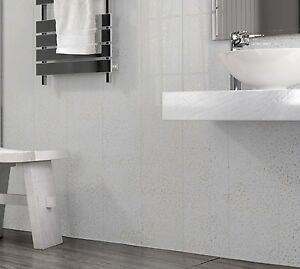 Bathroom Cladding Platinum White Sparkle PVC Plastic Shower Wall - White sparkle bathroom cladding