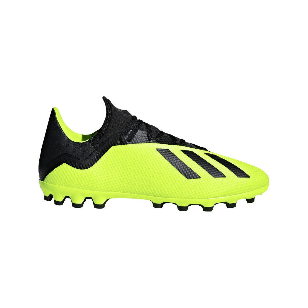 Adidas x 18.3 AG botas de fútbol amarillo negro [aq0707]