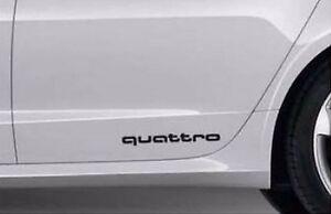 Audi Dekorfolie quattro Brillantschwarz 81A064317 Y9B Schriftzug Folie