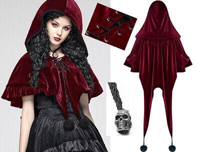 Cape Veste Velours Capuche Gothique Lolita Baroque Volant Pompon Elfe Punkrave R I Colori Stanno Colpendo