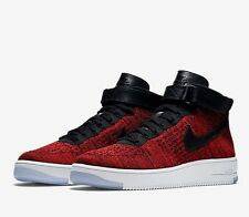 Nike AF1 Air Force 1 Ultra Flyknit Mid Red Black White Size UK 6.5 EU 40.5 New