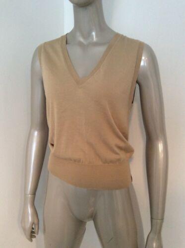 Small Sweater Extra Paul Xs Neck Cotton V Vest Beige Smith Dame Silk wFtBxqa