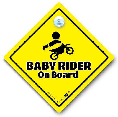 Ventosa Ventana de Coche Firmar Bebé a bordo de signo Mini me Coche Firmar