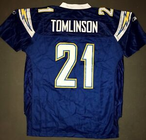 new style c316f 37adf Details about Vintage Reebok LaDAINIAN TOMLINSON HOF Chargers Limited  Jersey NWT Tags XL + 2