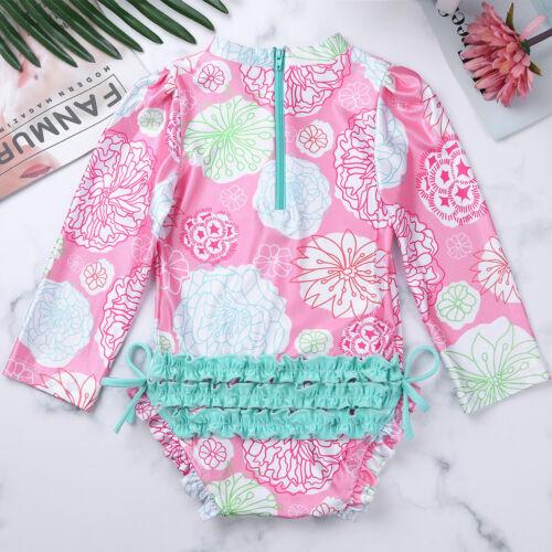 Rash Guard Swimwear Maillot de bain tankini maillot de bain Beachwear Baby Girls Ultraviolet facteur de protection 50