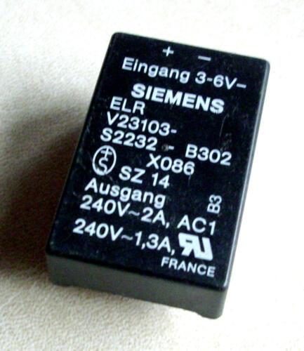 1 Stück Siemens ELR V23103-S2232-B302 M3878 3-6V Relais