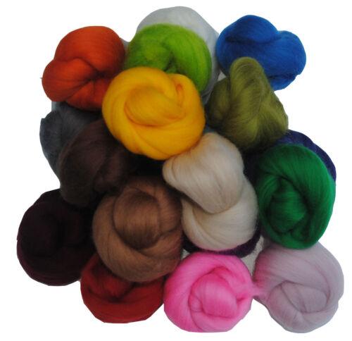 Handle Heidifeathers® High Quality Needle Felting Starter Kit Merino Wool