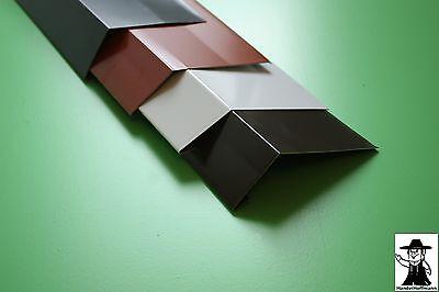 Rinneneinhang Traufblech Dachblech Alu Aluminum Farbig 2 M Lang 0,8 Mm Stark Heimwerker