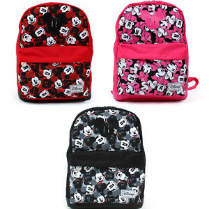 5beae20833c Disney Mickey Mouse Backpack Black Pink Red color   Genuine Bag ...