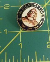 Bigfoot Lives Lapel Pin With Great Sasquatch Logo On Front Cool Collector Item