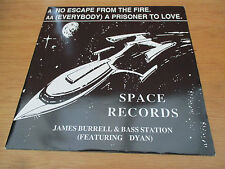 """James Burrell &  Bass Station – No Escape From The Fire Vinyl 12"""" 33RPM UK 1992"""