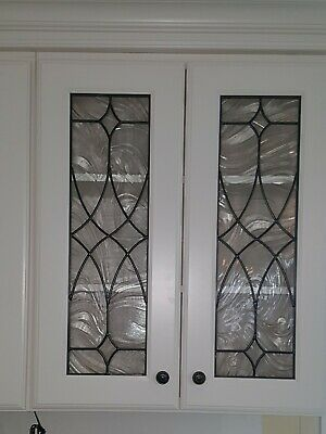 Kitchen Cabinet Art Glass Stained Glass Door Insert Window Baroque Style 2 Of Ebay
