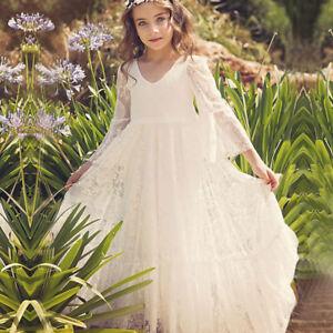 Cotton Flower Girl Dress Floor Length