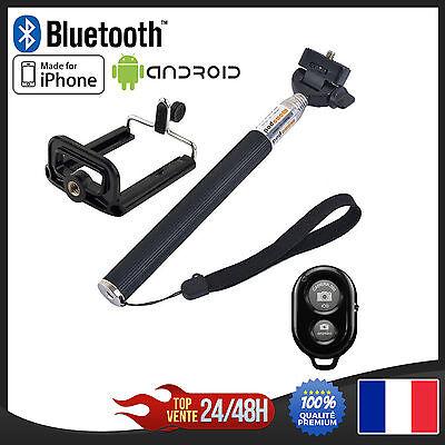 Perche à Selfie Monopode Bras Téléscopique Bluetooth 97cm pour iPhone Android