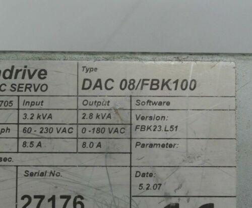 1PC USED deltadrive DAC 08//FBK100 DAC08 DHL or EMS 90days Warranty #P3460 YL