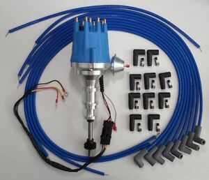 ford y block 239 272 292 312 blue electronic distributor spark image is loading ford y block 239 272 292 312 blue