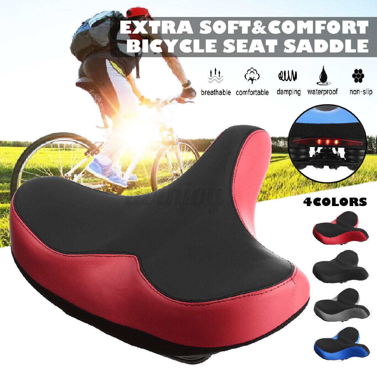 Shock-Absorption Soft MTB Bicycle Bike Cycling Saddle Seat Cushion Pad Black