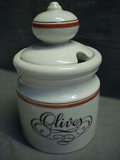 """pot couvert porcelaine d'Auteuil  """"olives"""" (réf I15)"""