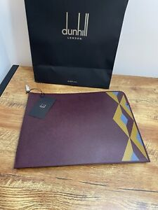 Dunhill Leather Cadogan Zip Folio/Laptop/Docs Marquetry Large Burgundy RRP £525