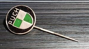 KTM Anstecknadel lackiert Hohlprägung Hakennadel 60er Jahre 17x10mm alt+original