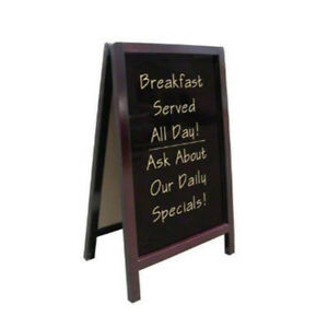 Cafe-Coffee-Shop-Menu-2-Side-Wood-Board-Whiteboard-Blackboard-110x66cm