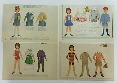 Vintage 1963 Betsy Mccall Paper Dolls Mccall S Magazine Uncut 4 Sheets Lot 5 Ebay