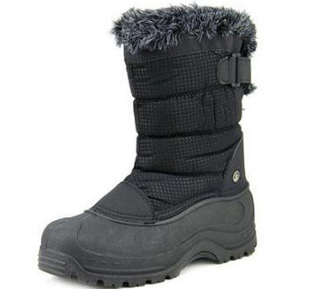 Women's NORTHSIDE SAINT HELENS Black Waterproof Winter Snow Boots/Shoes New