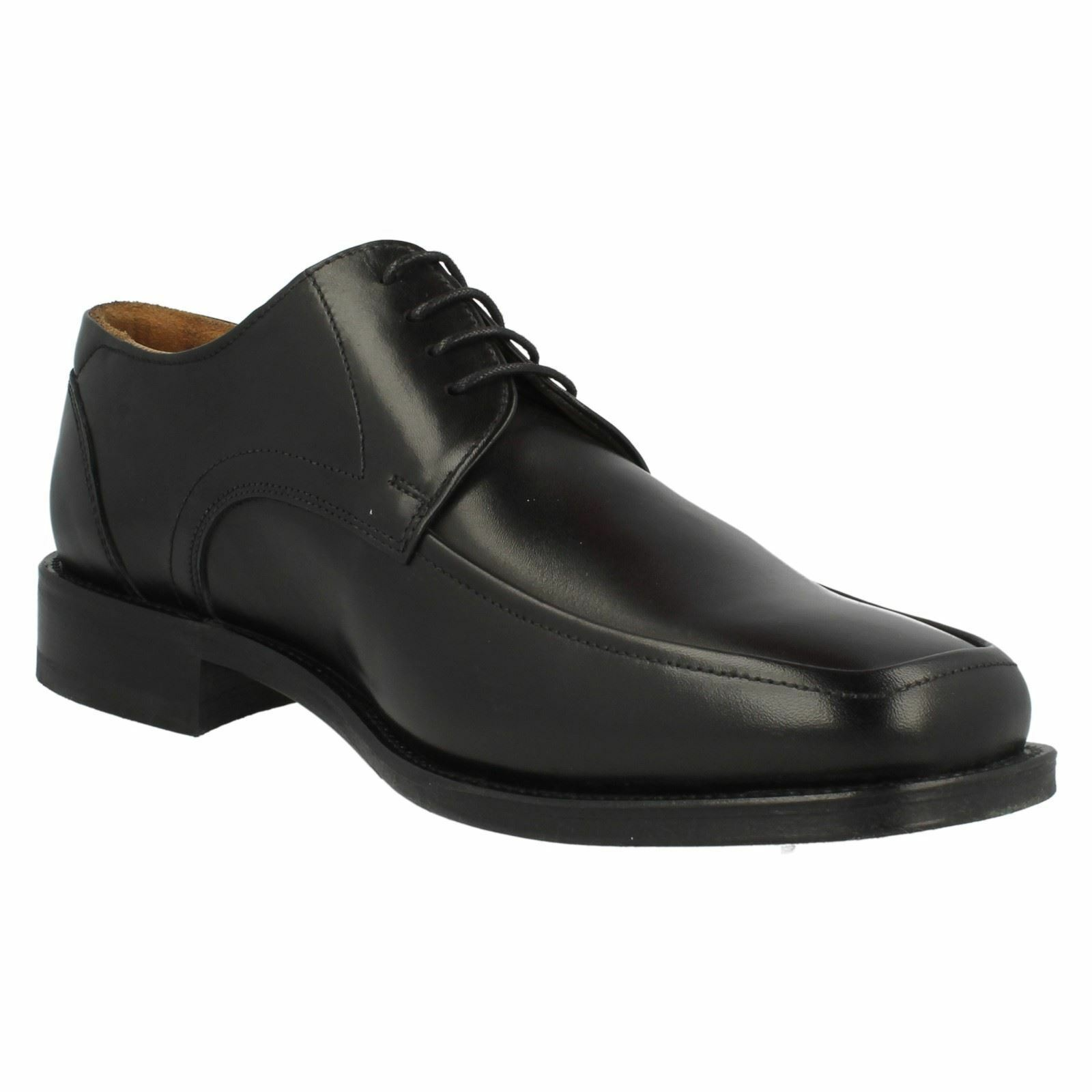 Loake Sussex Gents Leder Square Toed Smart schwarz Lace Schuhes