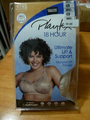 Details about  /828T2 Playtex 4745 18 Hour Wire Free Full Support Bra 42DD Sandshell NWD