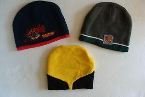 Lot of 3 Kids Winter Hats Marvel Spider-Man Wolverine Cartoon Network Scooby-Doo