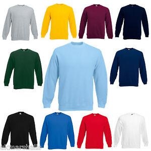 XXXL 11 Colours Wholesale Fruit of the Loom Set in Sleeve Sweatshirt Jumper S