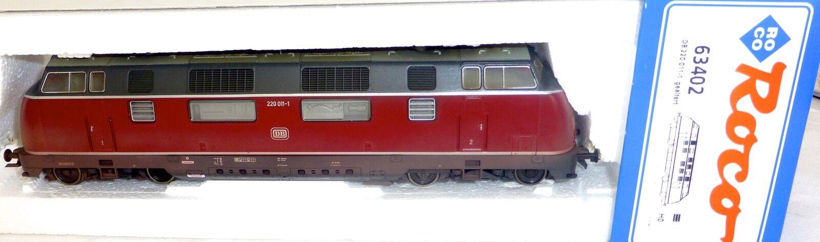 V 220 011 1 Locomotive Diesel Gesupert Dss Roco 63402 Emballage D'Origine H0 1