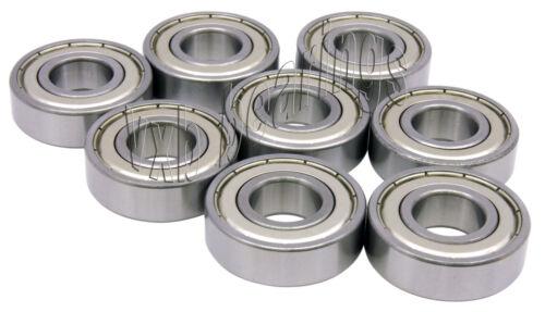 8 Skateboard 608Z Shielded Deep Groove Radial Ball Bearings