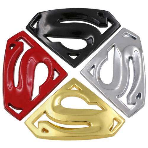 3D Chrome Metal Auto Car Motorcycle Superman Logo Sticker Badge Emblem Decal