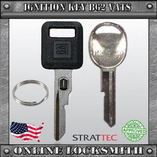 Door Key B45 New OEM VATS Key B62-P2 GM Logo For Buick Cadillac Chevy Olds/'