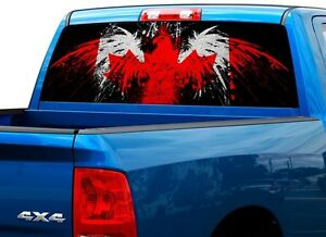 Canada Flag Bird Patriotic Rear Window Graphic Decal Sticker Truck - Rear window decals for trucks canada
