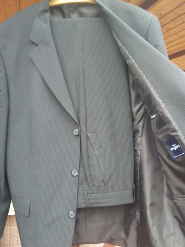 Herren Anzug - Blazer Mit Hose - Gr 52 Schwarz - Engbers