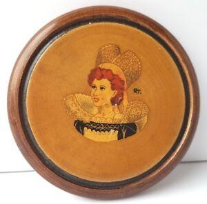 Wood-Lid-Can-Casket-Portrait-Signed-France-um-1920-1930-AL1138