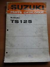suzuki motor bike parts list catalogue ts125