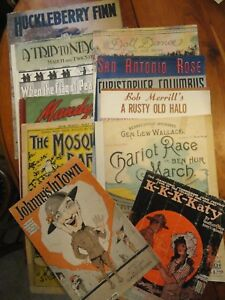 Lot-Of-11-Vintage-Pieces-of-Sheet-Music-1894-1955-WWI-MUSIC-Included