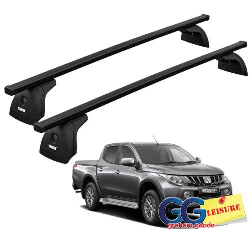 Thule Evo Square Roof Rack Bars LockableMitsubishi L200 Double Cab 2015- on