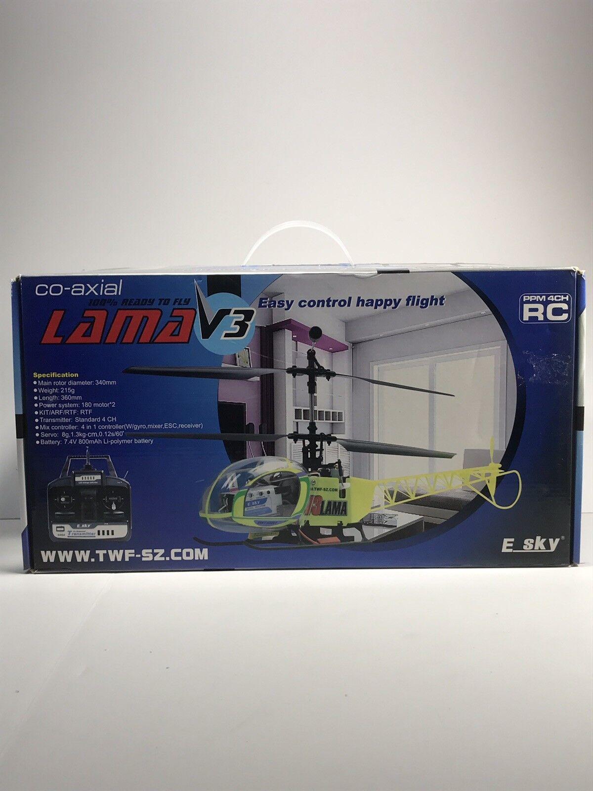 nuovo R C  Ecielo Lama V3 Helicopter  vendita di fama mondiale online