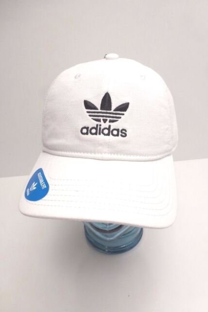 b9dae544aea adidas Men s Originals Relaxed Fit Strapback Cap One Size White ...