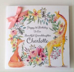 Personalised fox 1st birthday card daughter granddaughter niece 2nd image is loading personalised fox 1st birthday card daughter granddaughter niece bookmarktalkfo Image collections