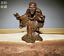 thumbnail 1 - Old Antique Tea Pet Pure Solid Copper Arhat kanakavatsa handwork chinese Statue